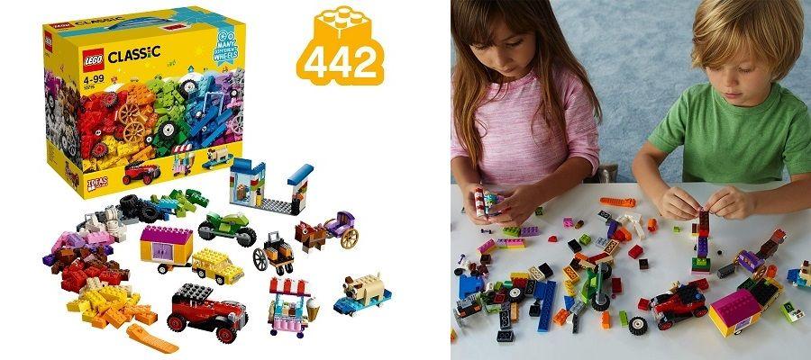 LEGO Classic 10715, ladrillos sobre ruedas