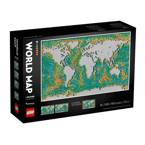 1. Mapamundi - LEGO Art