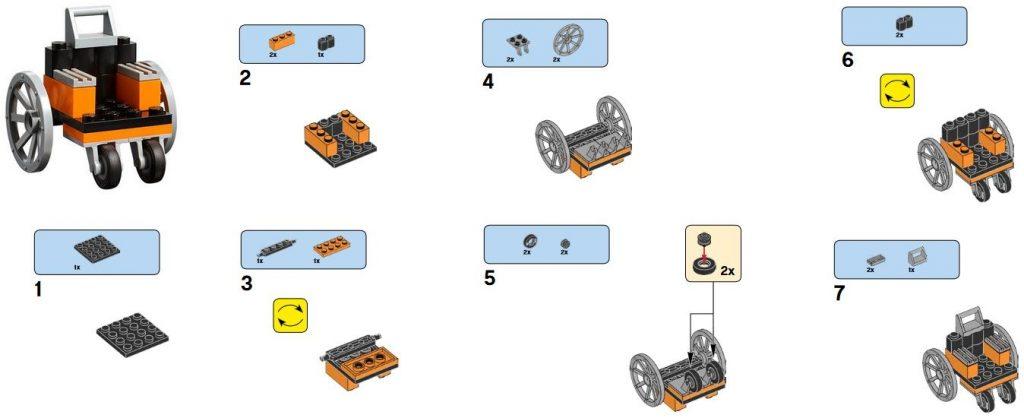 silla de ruedas lego