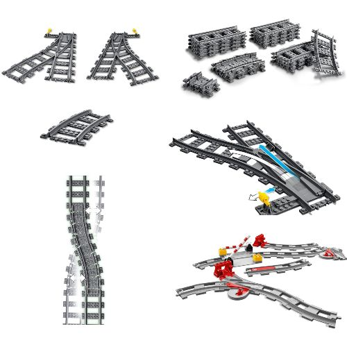 vias de tren lego city duplo